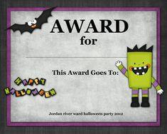 costume contest award template buscar con google - Free Halloween Costume
