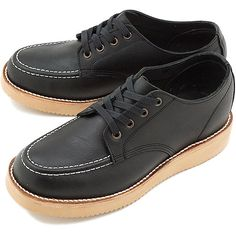 PISTOLERO ピストレロブーツ Oxford Moc Oxford mock toe a pair of shoes BLACK (113-01)
