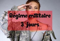 Régime militaire 3 jours pour perdre du poids
