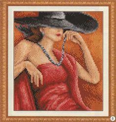 Fırça ile resim yapamıyorsan o zaman iğne iplikle dene! Şemalar benden uygulaması sizden!!: Elegans Goblen Şeması- cross stitch , petitpoint
