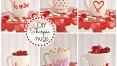 DIY Valentine's Sharpie Mugs