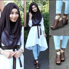 Tunika - www.misselegance.de (Elegance 483) Hijab / Kopftuch / Basörtü - im Online Shop Hijab 177 Pants / Hose / Pantolon - H&M Shoes / Schuhe / Ayakkabilar - H&M