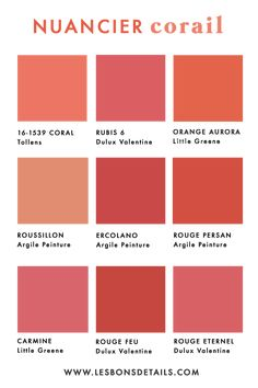 Living Coral : Pantone 2019 Living Coral, the color chart of Pantone for the year 2019 Coral Colour Palette, Colour Schemes, Color Trends, Paleta Pantone, Coral Pantone, Coral Bedroom, Bedroom Paint Colors, Live Coral, Wedding Colors