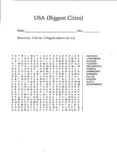 Find the 12 biggest US cities!