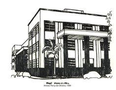 Paço Municipal. Percy de Oliveira. 1989. Imagem do acervo do APHRC