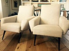 Fun pair of 1950's chairs $650