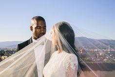 Kim Kardashian celebrates wedding anniversary with Kanye West dishing out unreleased wedding photos Kim Kardashian Kanye West, Kim E Kanye, Kardashian Jenner, Kardashian Fashion, Amber Rose, Celebrity Wedding Dresses, Celebrity Weddings, Wedding Gowns, Celebrity Style