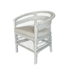 Shop Matoba Chair White at Interiors Online. Exclusive High End Furniture. Furniture Decor, Outdoor Furniture, Outdoor Decor, Rattan Rocking Chair, African Furniture, Striped Chair, White Side Tables, Interiors Online, Hanging Chair