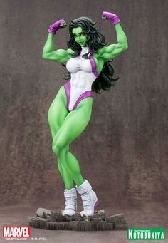 Crunchyroll - Marvel Bishoujo Collection: She-Hulk Figure Statue by Kotobukiya