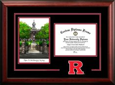 NCAA Rutgers Scarlet Knights Spirit Graduate Frame Diploma Picture Frame