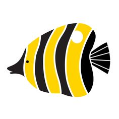 """2-piece angelfish stencil measures 10.5""""w x 7.5""""h self-adhesive fish wall stencil – stick and paint individual stencil from the full-room Under the Sea Wall Mur"""