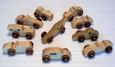 Handmade Wooden Car Party Favor Pack of 10 cars by PawPawsWorkshop