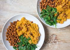Sweet Potato & Carrot Mash Bowl | Deliciously Ella