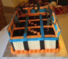 trampoline birthday cake