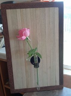 Wooden frame for flower