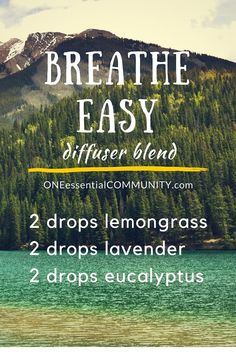 oil for asthma breathe easy essential oil diffuser blend– Use this diffuser blend for those d. breathe easy essential oil diffuser blend– Use this diffuser blend for those days when you need a sweet breath of fresh air Essential Oil Diffuser Blends, Doterra Essential Oils, Natural Essential Oils, Doterra Diffuser, Lemongrass Essential Oil Uses, Essential Oil Blends For Colds, Breathe Essential Oil, Essential Oil Congestion, Essential Oil Diffuser Necklace