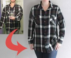 great tutorial shows you how to take in a shirt to make it smaller the right way. easy to follow sewing tutorial.