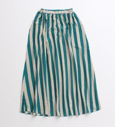 PAR ICI striped cotton/hemp skirt