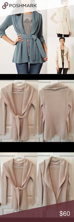 Anthropologie Collared Jersey Wrap Sweater By Rosie Neira. 5 star ratings on Anthropologie site . Beautiful and drapes perfectly for any season! Size xs. In great pre-loved condition! 🙆🏻no trades or off site transactions. Since I have a variety of sizes I do not model🙅🏻Low ball offers will be denied.😁I have an illness that sometimes requires serious medical attention & 2 little ones 👶🏼👶🏻 so if I don't respond I'm either very ill that day 🚑 or have been kidnapped by my kids.Thank…