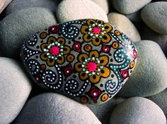 Moroccan Delight /Painted Rock / Sandi Pike by LoveFromCapeCod