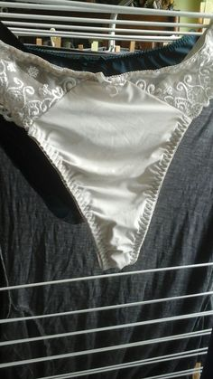 My ex wife gave me some of her lingerie when we split including a pair of panties like these 😉 Satin Lingerie, Luxury Lingerie, Sexy Lingerie, Gorgeous Lingerie, Girls Jeans, String Bikinis, Underwear, Women Lingerie, Laundry Room