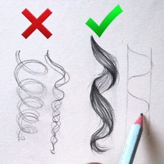 ollow us @dailyart!  Amazing! Helpful or not? Don't forget to Follow us @dailyart for more! Great art by @surelysimpleblog Tag your How To Draw Curls, How To Draw Eyelashes, How To Draw Afro Hair, Drawing Hair Tutorial, Braid Drawing, Curly Hair Drawing, Crazy Drawings, Hair Drawings, Art Drawings Sketches