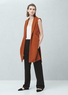 Side-pocket wool-blend waistcoat -  Women | MANGO USA
