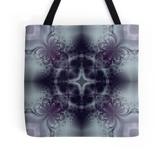 """Pattern ""Fractal symmetry"""" Tote Bags by floraaplus 