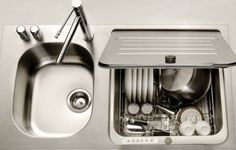Great for tiny spaces - the Briva in-sink dishwasher by KitchenAid.
