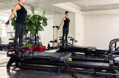 TARGETS: Full body with emphasis on arms, back and shoulders and the core. http://www.thecoveteur.com/recreate-workout-at-home-pilates/
