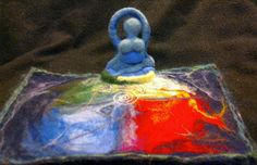 Elemental Pagan WiIccan Altar Cloth with sitting Goddess  -- 100% Wool by KSCreatedwithHope on Etsy