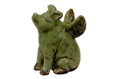 Urban Trends Collection Ceramic Flying Pig Green UTC76090