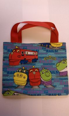 Chuggington Train Party Favor Bags by LittleScholarBooks on Etsy. $12.95, via Etsy.
