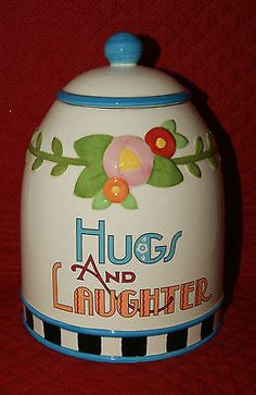 HUGS AND LAUGHTER, COOKIE JAR Mary Engelbreit
