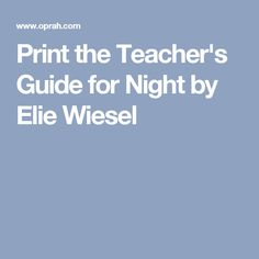 Night by Elie Wiesel, Worksheets, HW, Discussion Questions ...