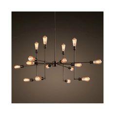 ペンダントライト パイプライト 工業照明 天井照明 照明器具 ビンテージ 16灯
