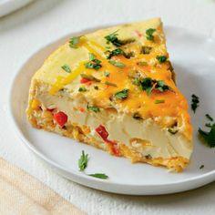 Cheesy Poblano Frittata in the Instant Pot Cheese Recipes, Gourmet Recipes, Snack Recipes, Healthy Recipes, Sin Gluten, Gluten Free, Low Carb Taco, Breakfast Nachos, Brunch Cake