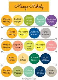 Color of the Week - Mango Melody - Mackenzie Makes