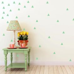 Triangle Wall Decals - Set of 100! Depending on size, they will come on one or two sheets. These are simply peel...