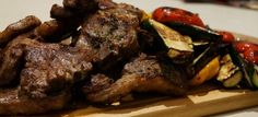 BBQ lamb chops with mint pesto