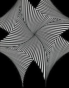Franco Grignani, Quadrivela, 1965 [from Artribune & Galleria Gruppo Credito Valtellinese] Surfboard Painting, Logo Sketches, Illusion Art, Photo Logo, Op Art, Optical Illusions, Sculptures, Graphic Design, Ink