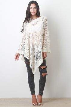 We seriously heart this comfy cozy light weight knit poncho. Can you blame us? It's UNDER $15!