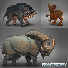 PANTROPY: creature design, Lukasz Jaskolski on ArtStation at https://www.artstation.com/artwork/RBe0r