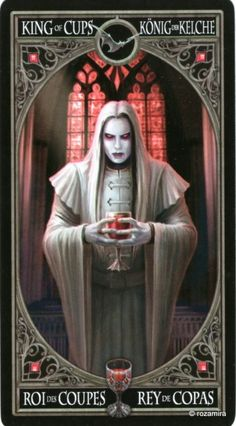 Anne Stokes Gothic Tarot (scanned cards) Anne Stokes, Vampire Pictures, Gothic Pictures, Tarot Card Spreads, Tarot Cards, Fantasy Images, Fantasy Art, Tarot By Cecelia, King Of Cups