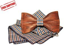Bow Ties – wooden bow tie, wooden bowtie, wood bow tie – a unique product by WoodTon on DaWanda