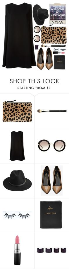 """Empire State of Mind"" by karineminzonwilson ❤ liked on Polyvore featuring Polaroid, Clare V., McQ by Alexander McQueen, Miu Miu, BeckSöndergaard, Yves Saint Laurent, FOSSIL, MAC Cosmetics, Maison Margiela and women's clothing"