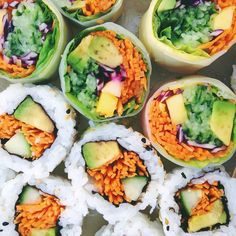 RAW TILL 4 - veganarchi:   Vibrant veggie #sushi and spring...