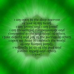 I love this affirmation, beautiful. ~heart chakra <3