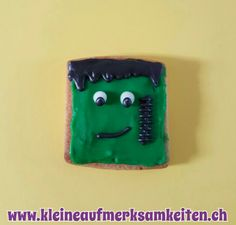 Halloween Frankenstein Cookie