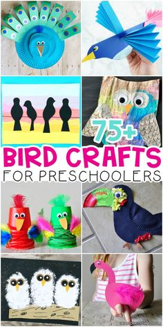 Bird Crafts for Preschoolers -Ultimate list of birds activities for kids of all ages. Common birds, tropical birds, peacocks, owls, penguins and more. Bird Crafts Preschool, Animal Crafts For Kids, Winter Crafts For Kids, Toddler Crafts, Diy Crafts For Kids, Toddler Activities, Projects For Kids, Fun Crafts, Preschool Themes